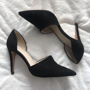 Zara d'orsay black heels